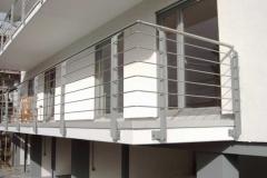 Geländer in Stahl-/Edelstahlkombination