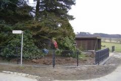 Leichtazun 3 D - beschichtet in silber antik - dieser Zaun lässt sich optimal dem Gelände anpassen