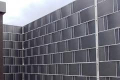 Sichtschutzzaun mit verzinktem Doppelstabzaun