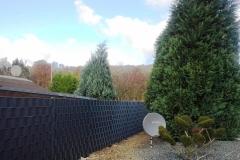 Sichtschutzzaun in anthrazit