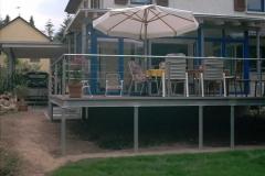 feuerverzinkte Terrasse - Geländer mit Edelstahlseilen